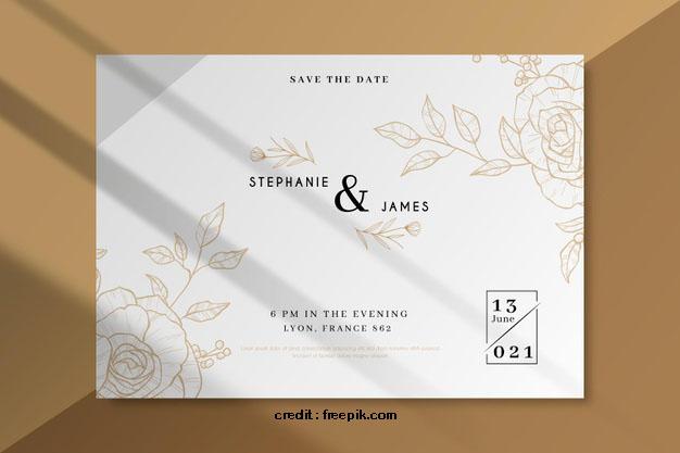10 Contoh Desain Template Undangan Pernikahan Simple Dan Elegan
